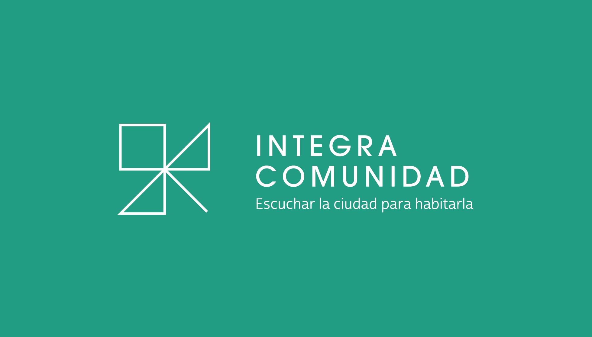 IntegraComunidad_CF - Primario Tinta blanca sobre verde